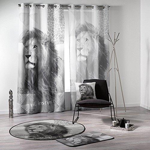 Douceur D'interno 140 x 240 cm, Stampa: D%2FP Lion-Tenda in Voile, con Occhielli, Multicolore