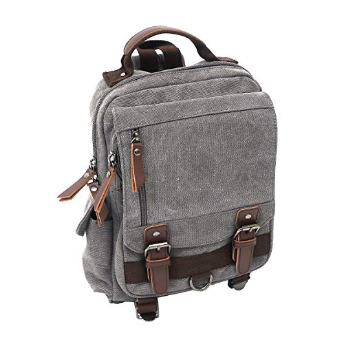 TENDYCOCO Outdoor Canvas Backpack Men Women Messenger Bag for Camping Hiking