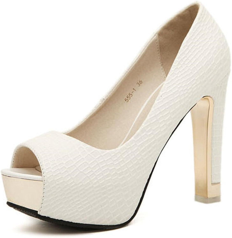 MFairy Woman's High Heel Peep Toe Pumps Fashion Heeled Party shoes