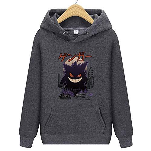 Anime Hoodie Imprimir Jersey- Gengar (Pokémon) Diversión Nueva Impresión Pullover-Impresión 3D Jersey Sweater 2020 Nuevo otoño e Invierno Unisex (Color : 10E, Size : S)