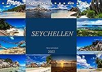 Trauminseln Seychellen (Tischkalender 2022 DIN A5 quer): Paradies auf Erden - Seychellen (Monatskalender, 14 Seiten )