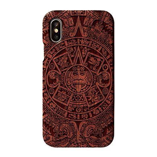 WASAIYE Für iPhone X/XS aus Holz, Hartschalenkoffer mit TPU-Stoßstange - Nussbaum,016