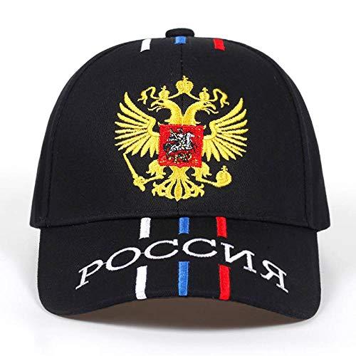 Kappe Neue Unisex 100% Baumwolle Outdoor Baseball Cap Russische Emblem Stickerei Mode Sport Hüte für Männer & Frauen Patriot Caps Schwarz