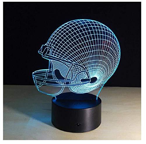 American Football Helm Lampe 3D Nachtlicht Schlafzimmer Dekor 7 Farben Sport Nachtlicht Baby Kind Geschenke