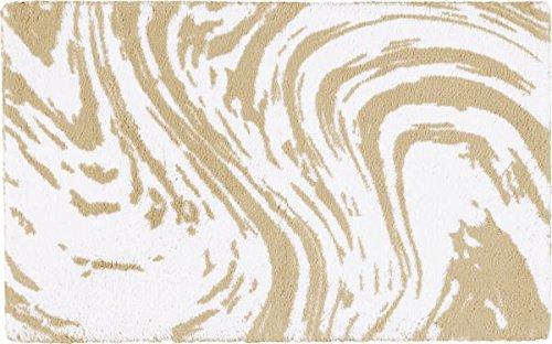 Egeria Marble badmat l badmat 70x120cm l marmer l 515 titanium l beige