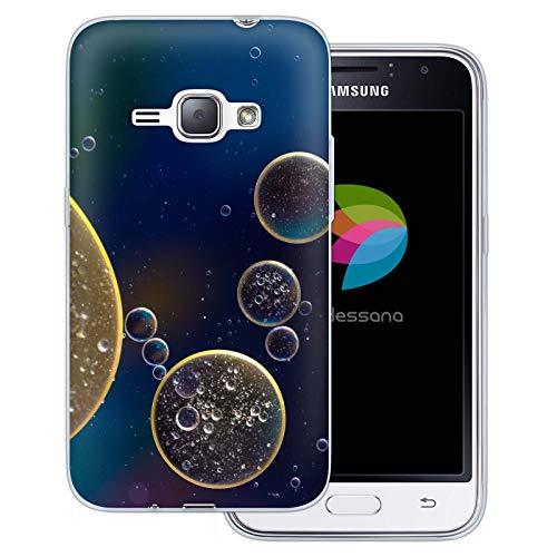 dessana Cover protettiva trasparente per Samsung Galaxy J1 (2016), miscela liquida