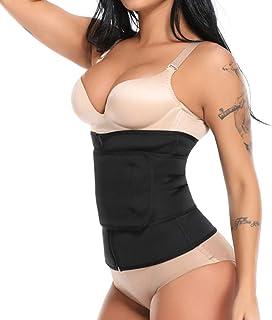comprar comparacion Mujer Cinturón de sudación y cremallera, invernadero talla corsé sculptant regulable cinturón Minceur, prévenir de blessur...