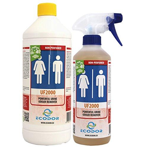 Ecodor U2000 Mensch 1 ltr. Nachfüllflasche + 0,5 ltr.Sprühflasche. Zur Geruchsneutralisation die bei Menschen entstehen.NICHT PARFÜRNIERT.