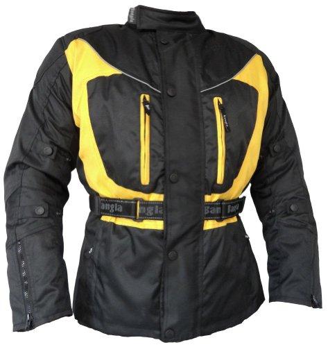 Bangla Motorradjacke Touren Jacke Textil 017a Gelb Schwarz XXL