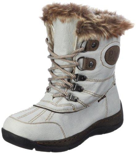 Supremo Damen Damenschuh Snowboots, Weiss (white), 41 EU