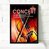 Guitar Rock Violin Poster Record Vintage Canvas Painting Frameless Cafe Living Room Music Bar Decoración Mural 30x40cm