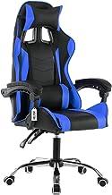 Cadeira Gamer Escritório Ajuste Lombar Reclinável Em 70° Gaming Azul V705