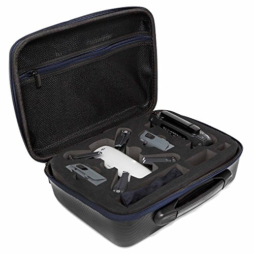 Ultimaxx Hard Shell Compact Storage Case for DJI Spark Drone, Fit for DJI Spark Drone, Remote Controller, Intelligent Flight Batteries, Battery Charger and Accessories