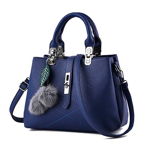 YOUNXSL El Nuevo Bolsos de Mujer Messenger Bag Ladies Shoulder Tote Bolso femenino Para Mujer Shoppers y Bolsos de Hombro Azul