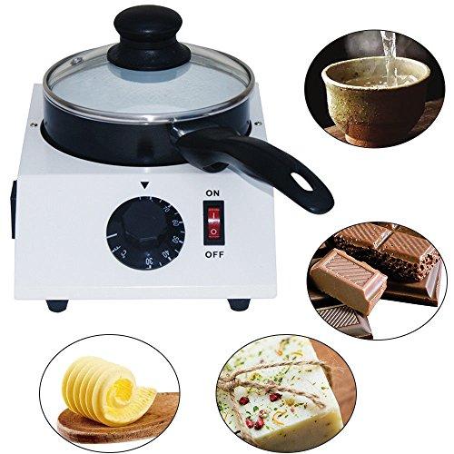 OU BEST CHOOSE DIY Schokolade Schmelzgerät, Elektrische Tempering Machine Schmelzen, Käse Süßigkeiten Keramik Antihaft Topf, Wein Milch Kaffee Wärmer Fondue - Küche Werkzeug Geschenk