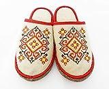Sauna Banya Slippers Ukrainian Ornament Red...