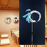 LIGICKY Noren - Cortina de estilo japonés para puerta (85 x 150 cm), color azul...