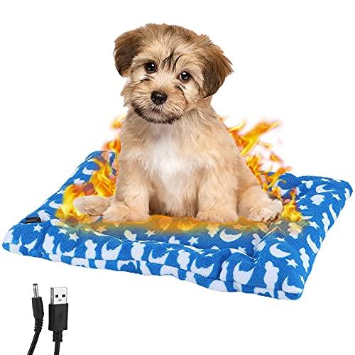Almohadilla térmica para Mascotas,Manta Eléctrica para Perro,Almohadilla Térmica para Perros y Gatos,Electrica USB 5V Almohadilla Elctrica,Alfombrilla térmica para Perros, Gatos