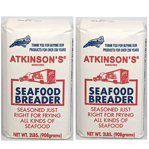 Atkinson's Seafood Breader Enriched & Seasoned Just Right For Frying All Kinds of Seafood 2 - 2 Lb. Bags