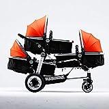 Ambiguity Sillas de Paseo,Cochecito de bebé de trillizos Cochecito bebé Carro Cochecito de Alta Vista
