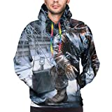 Tengyuntong Hombre Sudaderas con Capucha, Sudaderas, Men's Fashion 3D Print Long...