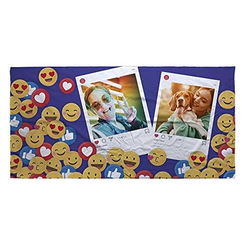 LolaPix Toalla Emoji. Regalos Personalizados. Toalla de Playa. Toalla Personalizada con Nombre. Varios diseños. Emoticono ✅