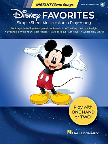 Disney Favorites - Instant Piano Songs: Simple Sheet Music + Audio Play-Along (English Edition)