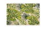 Excelsa Foliage - Felpudo de Entrada de Fibra de Coco, Verde, 40 x 60 cm