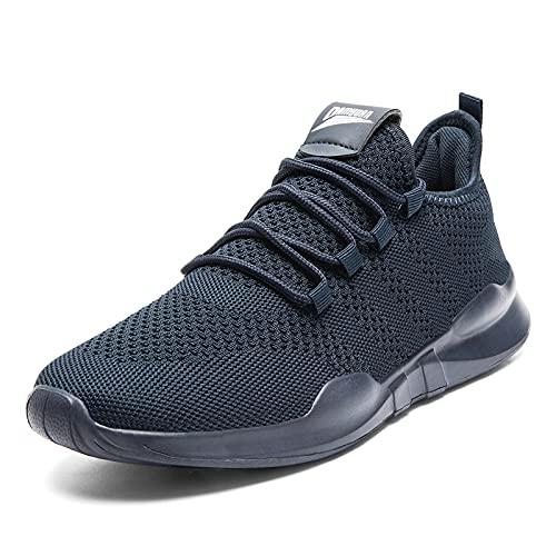 Zapatillas Deportivas Trail Running Hombre Casual Zapatos Padel Verano Sneakers Ligero Cómodo Caminar Tenis Hombre de Gimnasio Trainer Azul 42