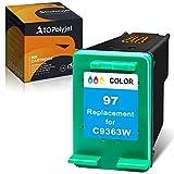 ATOPolyjet Remanufactured Cartridge Replacement for HP 97 Color Ink C9363WN for PhotoSmart 335 337 370 375 385 420 422 OfficeJet D5163 D5168 100 H470 150 7310 K7100 DeskJet 6940 Printer
