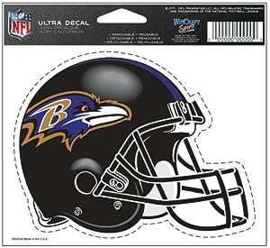 "WinCraft Baltimore Ravens Team Logo 5""x6"" NFL Helmet Decal"