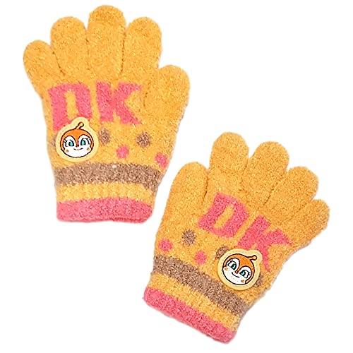 アンパンマン ニット手袋 のびのび手袋 男子 女子 男の子 女の子 冬物 5本指 雪遊び ばいきんマン pz-fzt32(ドキンちゃん)