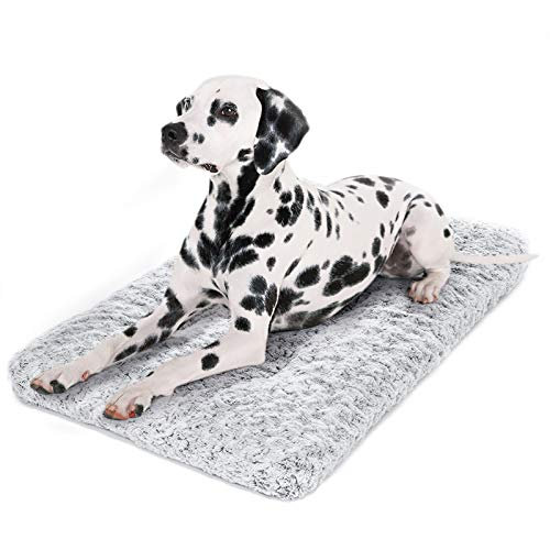 Dog Bed Kennel Pad Washable Anti-Slip Crate Mat for Small Dogs and Cats (24-inch)
