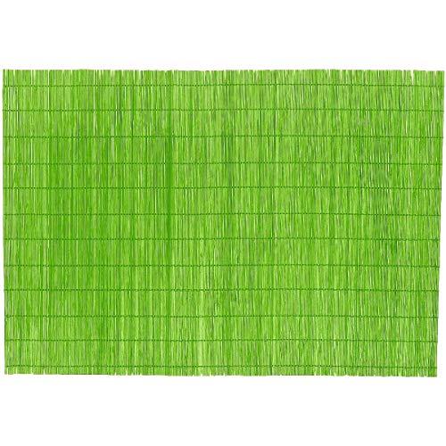 Promobo - Set De Table Luxe Bambou Design Zen Nature Vert Anis 45 x 30cm