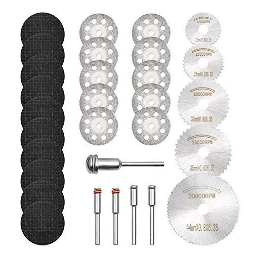 GOXAWEE Rotary Tool kit with Cutting Wheel Disc Set Bundle