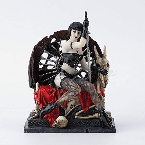 YHNBG Estatuas Decorativas Esculturas Estatuas Adornos Estatuilla Figuras Coleccionables Chica Misteriosa Posición Sentada Regalo De Cumpleaños Decoración del Hogar Escritorio