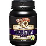 Barlean's Master Blend Total Omega 3-6-9 Lemonade Flavor Softgels - Non GMO, Gluten Free - 90-Softgels, 1000mg Each