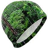 Harley Dulles Orecchie copri cuffia da nuoto, Albero Della Foresta Comodo Cappello da nuotata Design adatto Alla Testa