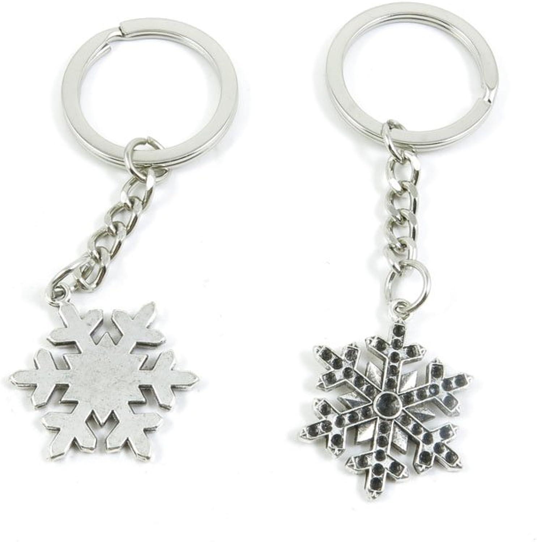 150 Pieces Fashion Jewelry Keyring Keychain Door Car Key Tag Ring Chain Supplier Supply Wholesale Bulk Lots Y2QC7 Snow Flake Snowflake
