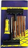 Kit de Reparación de Neumáticos - Kit Anti pinchazos para Todo Tipo de Neumáticos - 5 Mechas Antipinchazo Coche - Moto - MTB - Cola - 1 Herramienta en T en Espiral y 1 Herramienta en T de Inserción