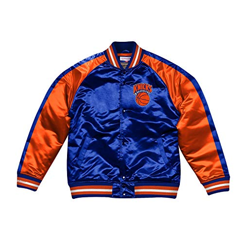 Mitchell & Ness NBA Color Blocked Satin Jacke (NY Knicks - Royal, XXL)