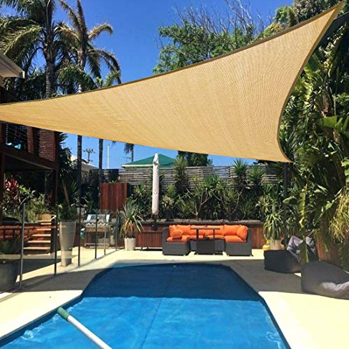 Artpuch Sun Shade Sail 20' x 20' x 20' Sand Cover for Patio Outdoor Triangle Canopy Backyard Shade Sail for Garden Playground