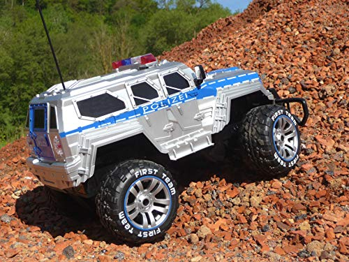 RC Auto kaufen Monstertruck Bild 2: RC Jeep SWAT POLICE mit LICHT & AKKU 1:12 Länge 39cm Ferngesteuert 27MHz*