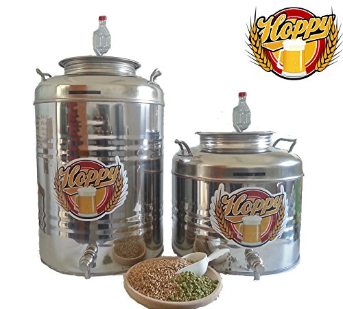 Hoppy Fermentatore completo da 30 Litri in Acciaio Inox Ermetico al 100% ideale per Birra Vino o Altro
