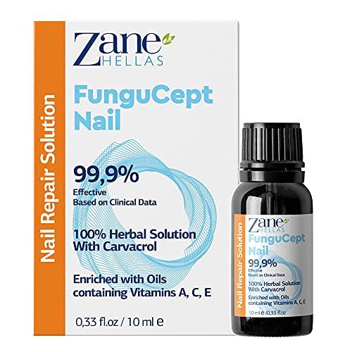 Zane Hellas FunguCept Nail. Soluzione unghie fungine. Soluzione Unghie Fungus Nail per unghie scolorite, ispessite, sbriciolate e con funghi. Risultati visibili in 4...