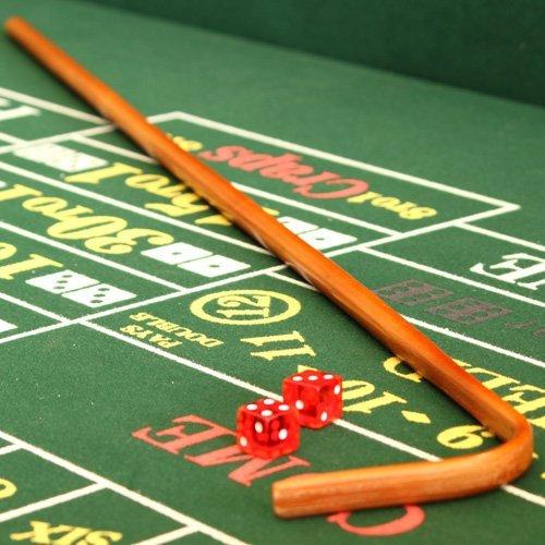 Deluxe Casino Craps Set with Felt, Dice Stick, Dice Cup, Dice, Chips & Button - Includes Bonus Deck of Cards!!