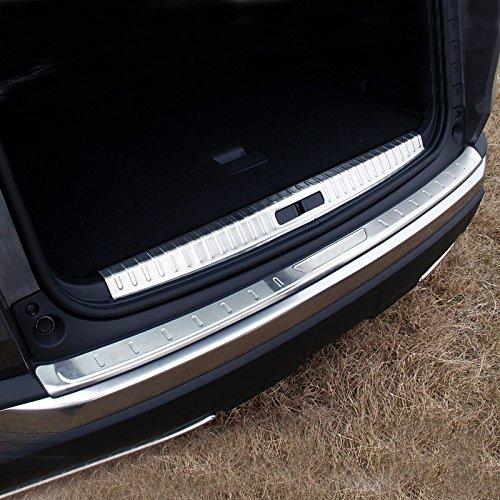 Plaque de couverture de rebord de pare-chocs arrière intérieur/extérieur en acier inoxydable, 2 pièces
