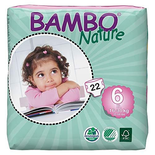 Abena Bambo Nature XL Taille 6 (33–66lb/16–30 kg) Eco couches – 22 pièces par lot