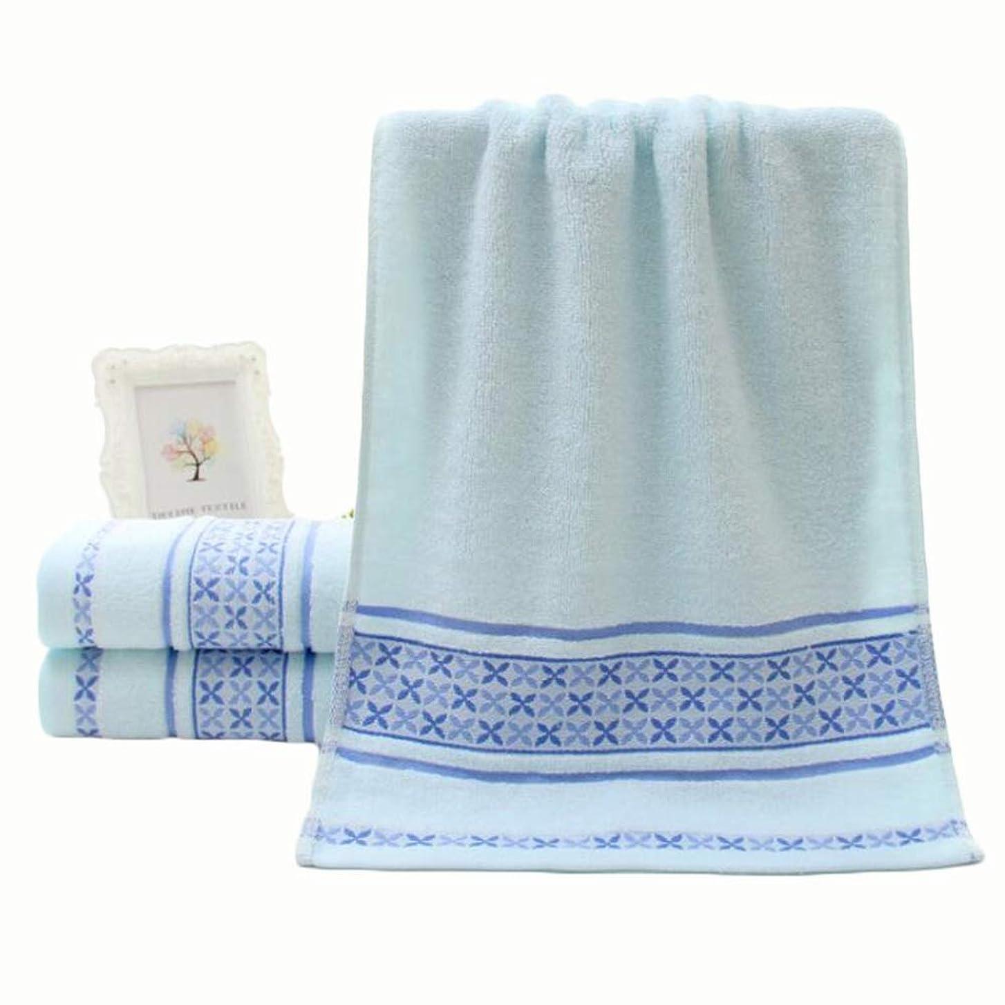 慈善ヘビ一緒CXUNKK 2PCS / LOT家庭用綿洗いソフト吸収性ジャカードカップルタオル (Color : Blue)