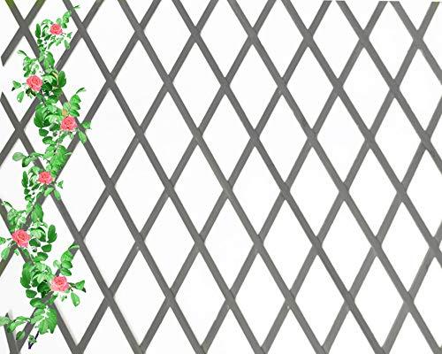 Celosia Extensible de Madera Natural de 1x2 Metros Color (Gris)
